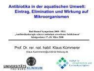 Antibiotika in der aquatischen Umwelt