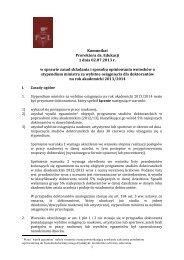 Komunikat Prorektora ds. Edukacji z dnia 02.07.2013 r. w sprawie ...