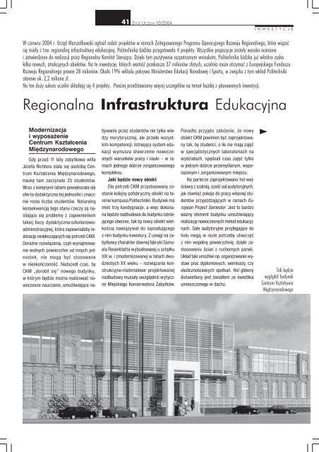 Regionalna Infrastruktura Edukacyjna Politechnika łódzka