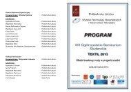 Program_Textil 2013pop - Politechnika Łódzka