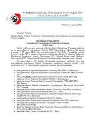 Oferta XIX Giełda Wynalazków.pdf - Stowarzyszenie Polskich ...