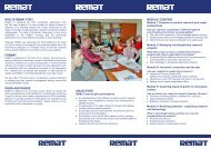 Who is ReMaT foR? foRMaT When and WheRe objecTives Module ...