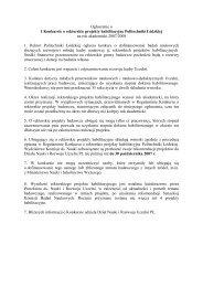 Ogłoszenie o I Konkursie o rektorskie projekty habilitacyjne ...