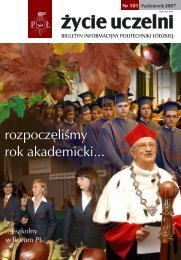 rozpoczęliśmy rok akademicki... - Politechnika Łódzka