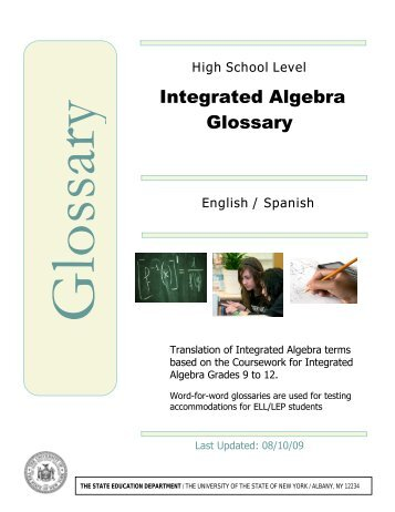 Integrated Algebra Glossary - p-12 - New York State Education ...