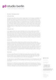 Disclaimer / Haftungsausschuss PDF - p3 studio berlin