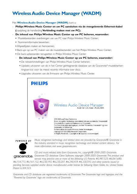 Wireless Audio Device Manager (WADM) - Philips