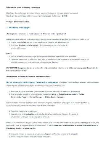 1. Windows 7 de apoyo. - Philips