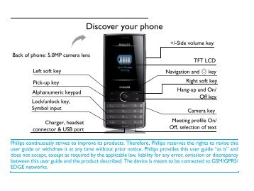 Discover your phone - Philips