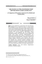 Sayfa 27:ABD, İngiliz ve Türk Polisindeki Terfi ... - Polis Akademisi