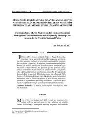 Türk Polis Teşkilatında İnsan Kaynakları ... - Polis Akademisi