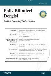 dergi - Polis Akademisi