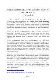 BAĞIMSIZ KOLLUK ŞİKÂYET MEKANİZMASI ... - Polis Akademisi
