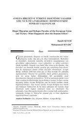 Avrupa Birliği ve Türkiye Ekseninde Yasadışı Göç ... - Polis Akademisi