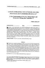 11 Eylül Sonrasında Yeni Güvenlik Anlayışı, İnsan Hakları ve ...