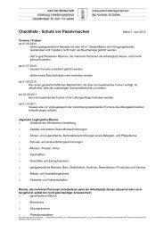 Checkliste - Schutz vor Passivrauchen