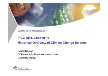 Historical Overview of Climate Change Science - Pa.op.dlr.de - DLR