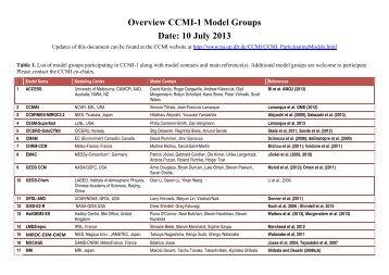 Overview CCMI-1 Model Groups Date: 10 July 2013 - Pa.op.dlr.de ...