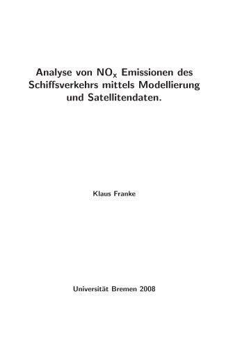 Analyse von NOx Emissionen des Schiffsverkehrs mittels ...