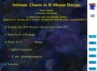 Intrinsic Charm in B-Meson Decays - University of Kentucky