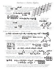 Section 1.1 - Vector Algebra