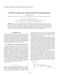 Two-Photon Transitions and Continuous Emission from Hydrogenic ...
