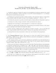 University of Kentucky, Physics 416G Problem Set #9 (Rev. A), due ...