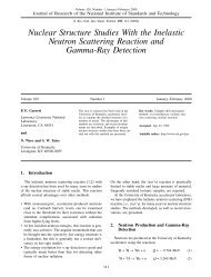 Nuclear Structure Studies With the Inelastic Neutron Scattering ...