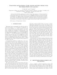 Conservation and persistence of spin currents and their relation to ...