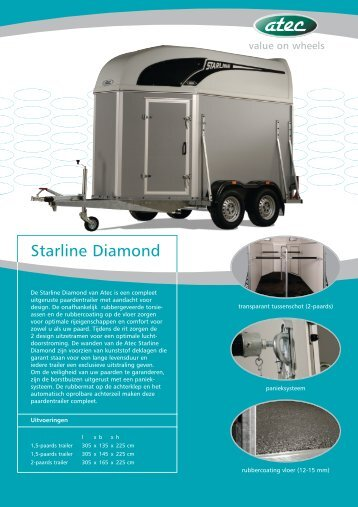 Download hier de Atec Starline Diamond PDF ... - Paardentrailer.nl
