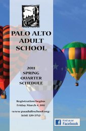 Download Schedule PDF - Palo Alto Adult School