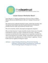 Carpet cleaners Manhattan Beach