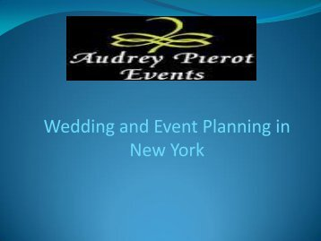 Wedding and Event Planning in New York