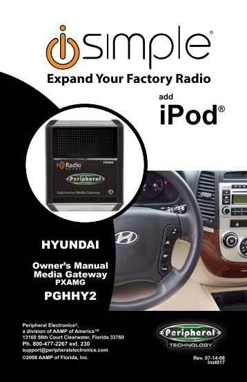 (PGHHY2 Harness) instruction manual - PAC Audio