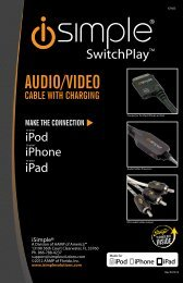 Please click here for the IS7603 instruction manual - PAC Audio