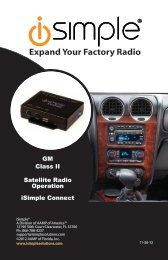Please click here for the ISGM655 Satellite Radio ... - PAC Audio