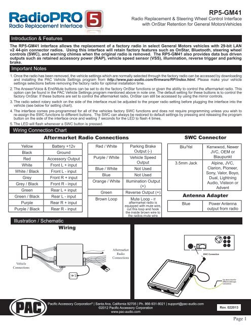 pac rp5 wiring diagram wiring diagram description rh 15 4 virionserion de  pac rp5-gm51