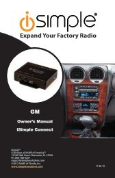 Please click here for the ISGM655 operation instructions - PAC Audio