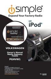 (PGHVW1 Harness) instruction manual - PAC Audio