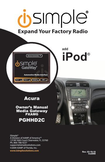 (PGHHD2C Harness) instruction manual - PAC Audio