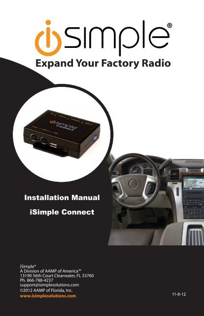 iSimple Connect Installation Manual - PAC Audio
