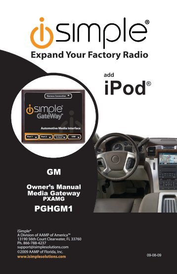 (PGHGM1 Harness) instruction manual - PAC Audio