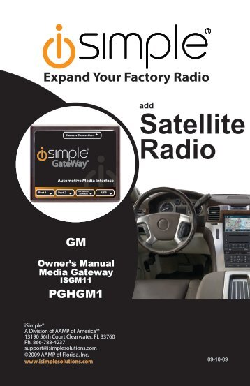 Please click here for the ISGM11 Instruction Manual - PAC Audio