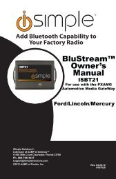 Please click here for the ISBT21 Ford/Lincoln/Mercury ... - PAC Audio