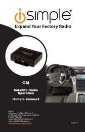Please click here for the ISGM651 Satellite Radio ... - PAC Audio