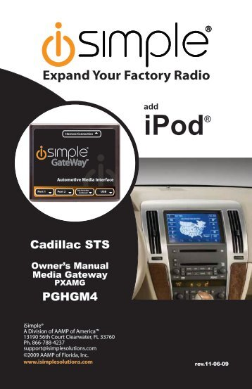 (PGHGM4 Harness) instruction manual - PAC Audio