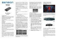 iGateway user guide - Dension