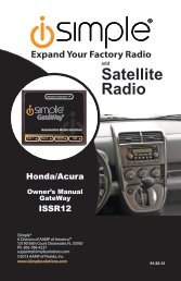 Please click here for the ISSR12 Honda Acura ... - PAC Audio
