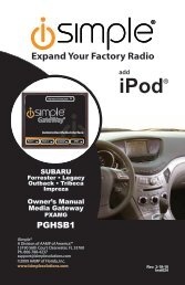 iPod® - PAC Audio