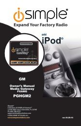 (PGHGM2 Harness) instruction manual - PAC Audio